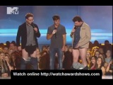 Zac Efron Danny McBride and Seth Rogen undress MTV Movie Awards 2013